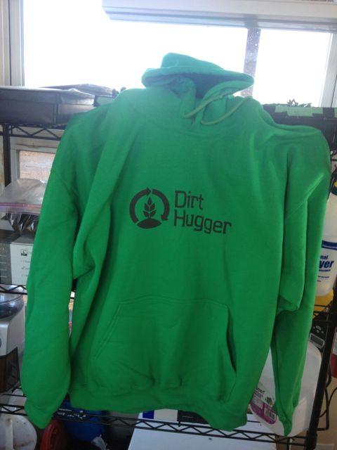 New green hoodies