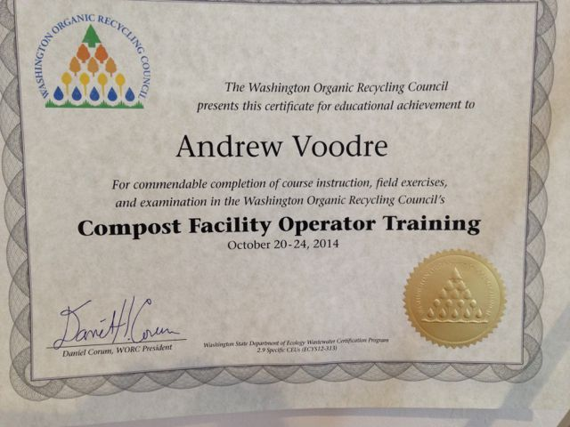 Andrew completes the CFOT training course